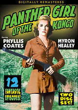 PANTHER GIRL OF THE KONGO- Serial PHYLLIS COATES, MYRON HEALEY - 2 disc set DVD