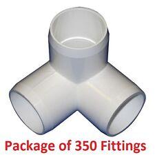 "3/4"" Furniture Grade 3-Way Corner Elbow PVC Fitting - 350 Pack"
