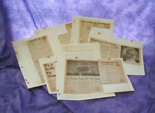 VINTAGE EXPO 67 1967 CANADA MONTREAL WORLDs FAIR 7 NEWSPAPER ARTICLES
