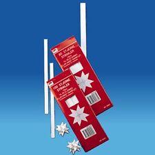 Scandinavian Swedish Danish Kit to make Paper Star Decorations #5697 White