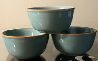 Set Of 3 Bobby Flay BF Portugal PLANCHA Turquoise Teal Soup Cereal Bowls