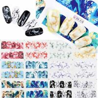 Nail Art Water Decals Stickers for Nail Decor Gradient Marble Full Cover Sticker
