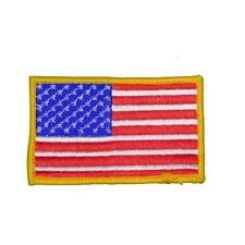 "SkyHawk 3.5"" x 2.5"" USA Flag Embroidered Patch - 2-Pieces"