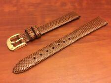 NEW SPEIDEL WATCH BAND BRACELET -  Genuine Lizard 13mm Brown