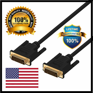 Rankie DVI to DVI Cable Gold Plated Monitor Cable Adapters 6 Feet Black