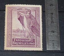 CINDERELLA 1910 VIGNETTE TIMBRE EXPOSITION DE BRUXELLES BELGIQUE BELGIË BRUSSEL