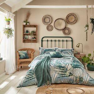 Clarissa Hulse Tropical Palm Leaf Duvet Cover Set Forest Green Cushion or Throw