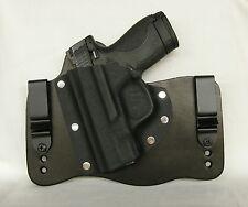 FoxX Leather & Kydex IWB Hybrid Holster S&W M&P Shield 9/40 Left Black Tuckable