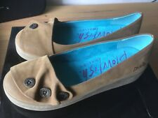Ladies Blowfish Malibu Brown Suede Leather Shoes Size UK 4.5