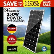 12V 250W Solar Panel Kit Mono Generator Caravan Camping Battery Charging 250watt