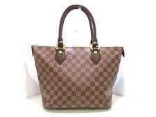 Authentic LOUIS VUITTON Damier Saleya PM N51183 Ebene Handbag VI1015