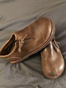 Simple Brand Sven Brown Leather Clogs Shoes Sz 5.5 Men 7 Women