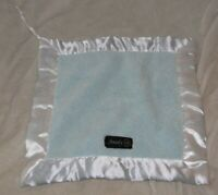 Anady B Security Blanket Lovey Baby Boy Blue White Plush Satin Lovie