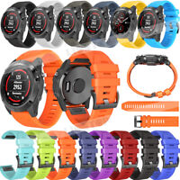 For Garmin Fenix 5 5X Plus S60 3 HR Silicone Quick Release Easy Fit Wirst Band
