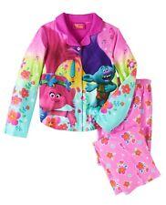 TROLLS PRINCESS POPPY Flannel Pajamas Sleepwear Girls Size 4/5, 6/6X or 7/8  $32