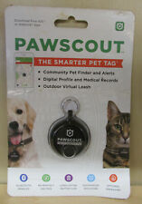 NEW Pawscout The Smarter Pet Tag Community Pet Finder Bluetooth Black ~101