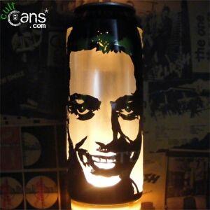 Valentino Rossi Beer Can Lantern! MotoGP Pop Art Portrait Lamp, Unique Gift!