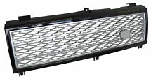 Front grille supercharged style for Range Rover L322 Vogue 2002-06 black+Silver