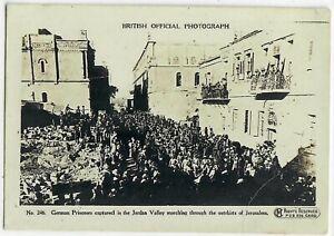 Judaica Palestine Old Photo Card German Prisoners Capture British Photograph WW1