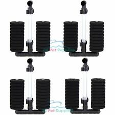 4 pcs Bio Sponge Filter Betta Fry Aquarium Fish Tank Double Sponge Xy-2822
