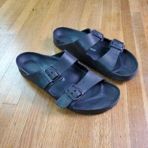 Birkenstock Arizona Mens Rubber Sandals Sz 45 US 12 Slide Black
