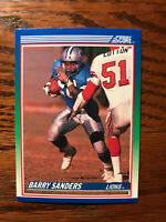 1990 Score #20 Barry Sanders Football Card Detroit Lions Rookie RC NFL HOF Raw