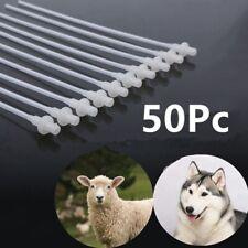 10 Inch Artificial Insemination Rods Breeding Catheter Tube Dog Sheep Goat 50pcs