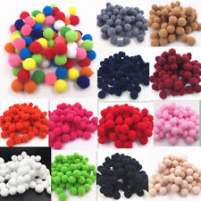 100Pcs 15mm Dia Soft Pom Poms Pompoms Balls Bobbles Diy Craft Card Making Decor