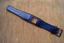 Azul Piel De Serpiente Grano TED BAKER Reloj Correa de Cuero de una sola pieza