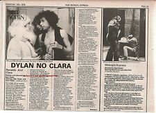 BOB DYLAN Renaldo and Clara film review 1978 UK ARTICLE / clipping