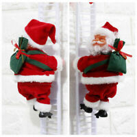Musical Climbing Ladder Santa Claus Christmas Figurine Ornament Decoration Gifts