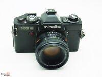 SET: Minolta SLR Kamera XG2 black + Objektiv MD Rokkor 1,7/50mm lens Ø 55