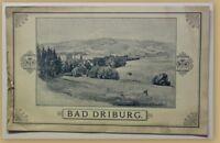 Orig. Prospekt Bad Driburg um 1890 Kurort Reise Nordrhein-Westfalen Ortskunde sf