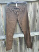 J. Brand Women's Distress Brown Cropped Denim Jeans Size 28 Pants