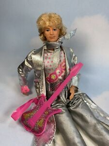 1986 Barbie and the Rockers KEN Doll, Original Outfit & Guitar  3131