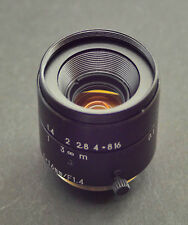 C-mount Lens SV 16mm 1.4, Macro focusing from 10cm to infinity. For BMPCC