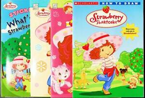 Strawberry Shortcake, lot of 4, NEW, activity books, how to draw/color/sticker