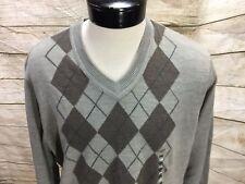 New Dockers V-Neck Sweater Beige Argyle Men's Large