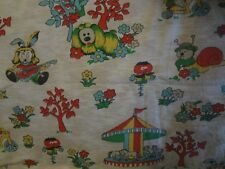 Vintage MAGIC ROUNDABOUT Flannel Fabric - Rare Find (150cm x 50cm)