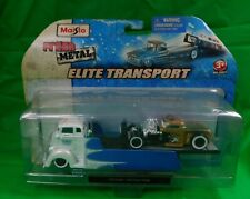 2009 Maisto All-Stars Elite Transport Coe Flatbed With 1936 Chevy Pickup Truck