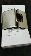Shower Door Hinge 135 GTG Two Tone Brushed Nickel & Gold with 5 or 10 degree pin