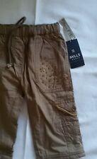 Mills Wear Babys Hosen für Mädchen mit Pailetten Gummizug Baumwolle Gr 80