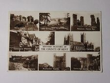 K572 - 1942 HISTORIC FEATURES of The COUNTY of KENT - Multiview Photo Postcard