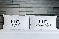 Couples Gay Mr Right Always Pillowcases Pillow Covers Bedroom Bedding WSD781