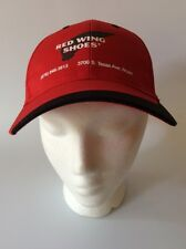 Red Wing Shoes Trucker Hat Bryan Texas Red Cap