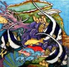 """Angel Fish - Decorative Ceramic Art Tile 8""""x8"""" by En Vogue Art on Tiles"""