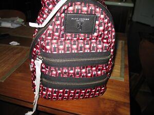 NWT Marc Jacobs   Logo Scream Mini Biker Backpack RED MULTI
