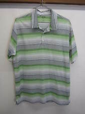 EUC Adidas Golf Climalite Polo Shirt Rugby green striped Boulder Country Club XL