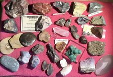 More details for fossil mineral semi precious stone collection crystal ammonite
