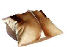 Springbok Leather Cushion, Decorative Pillows,  Ships Express from South Africa